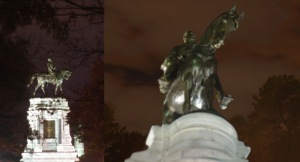 Robert E Lee Monument, double image